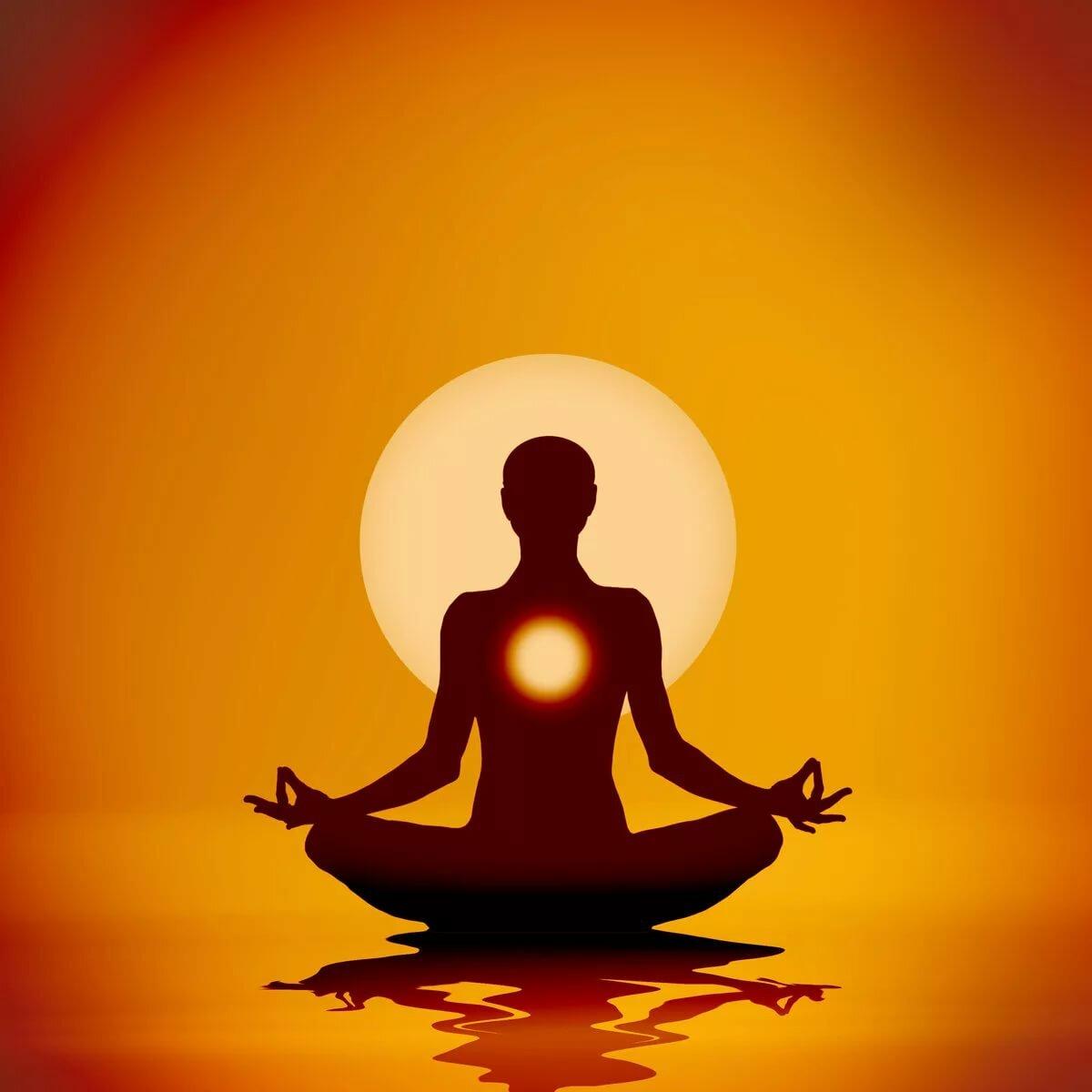 Поза медитации картинка