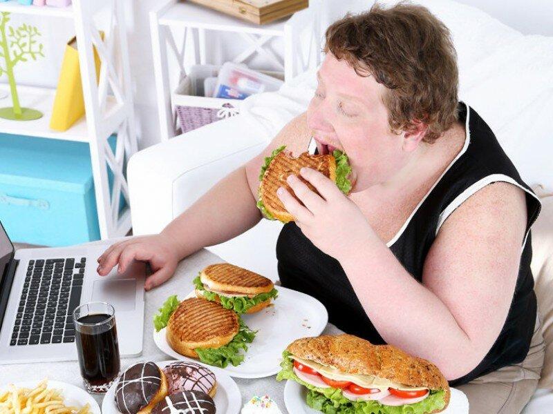 картинки толстяков с едой быстро