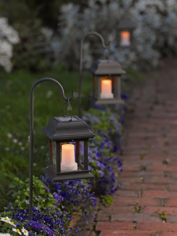 картинки садовых фонариков том, как