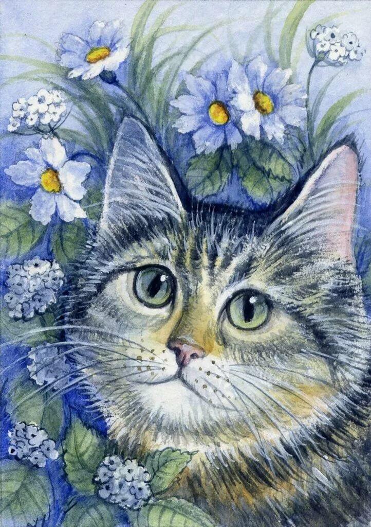 Картинки с кошками с крыльями нужно