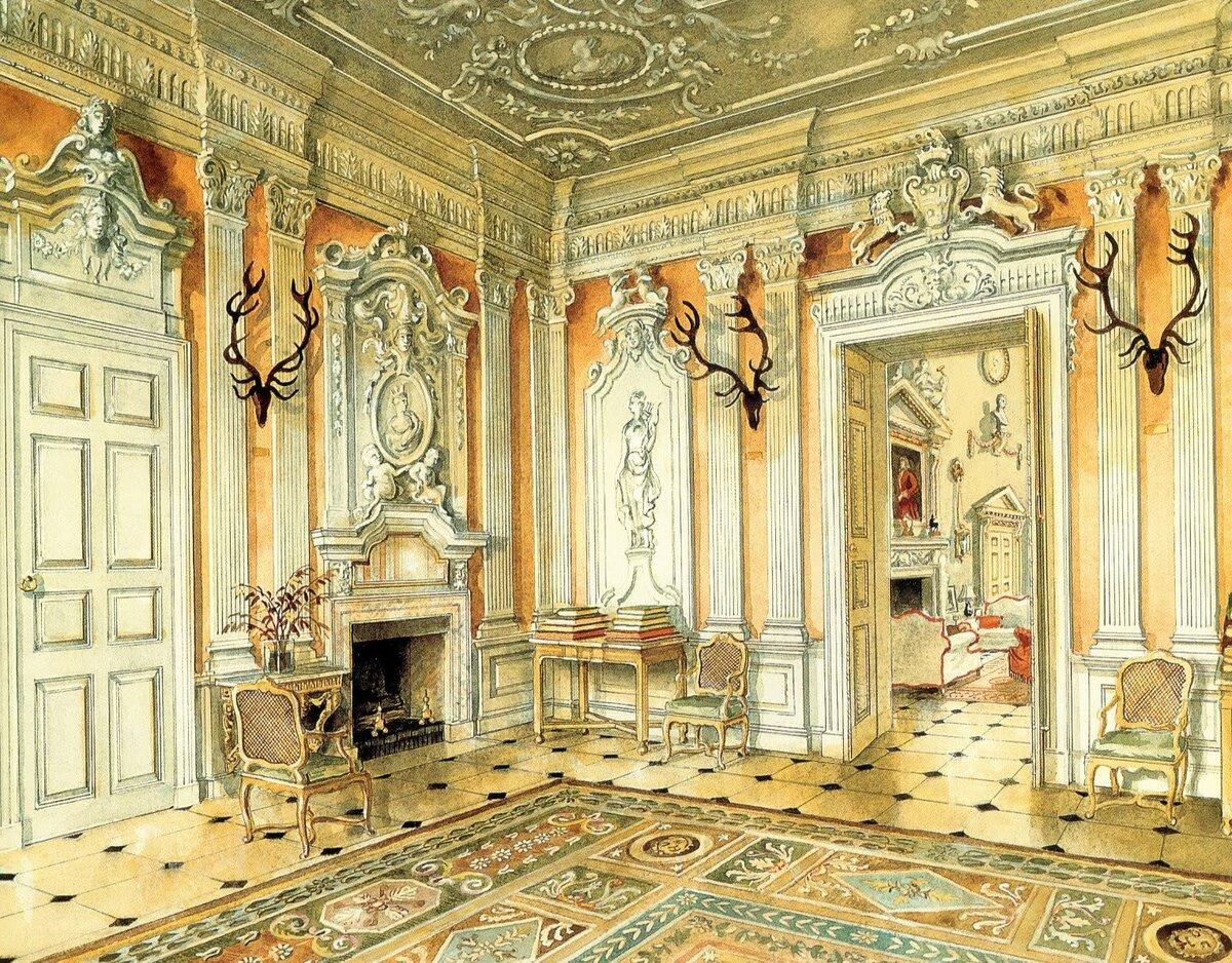 Рисунок дворцового интерьера