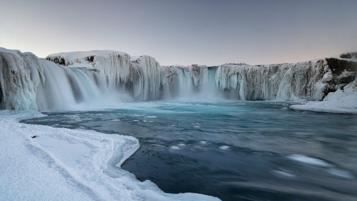 жаль, водопад годафосс исландия живые обои архитектуре