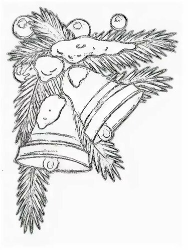 изготовление картинки с новым годом для распечатки ветки елки письма