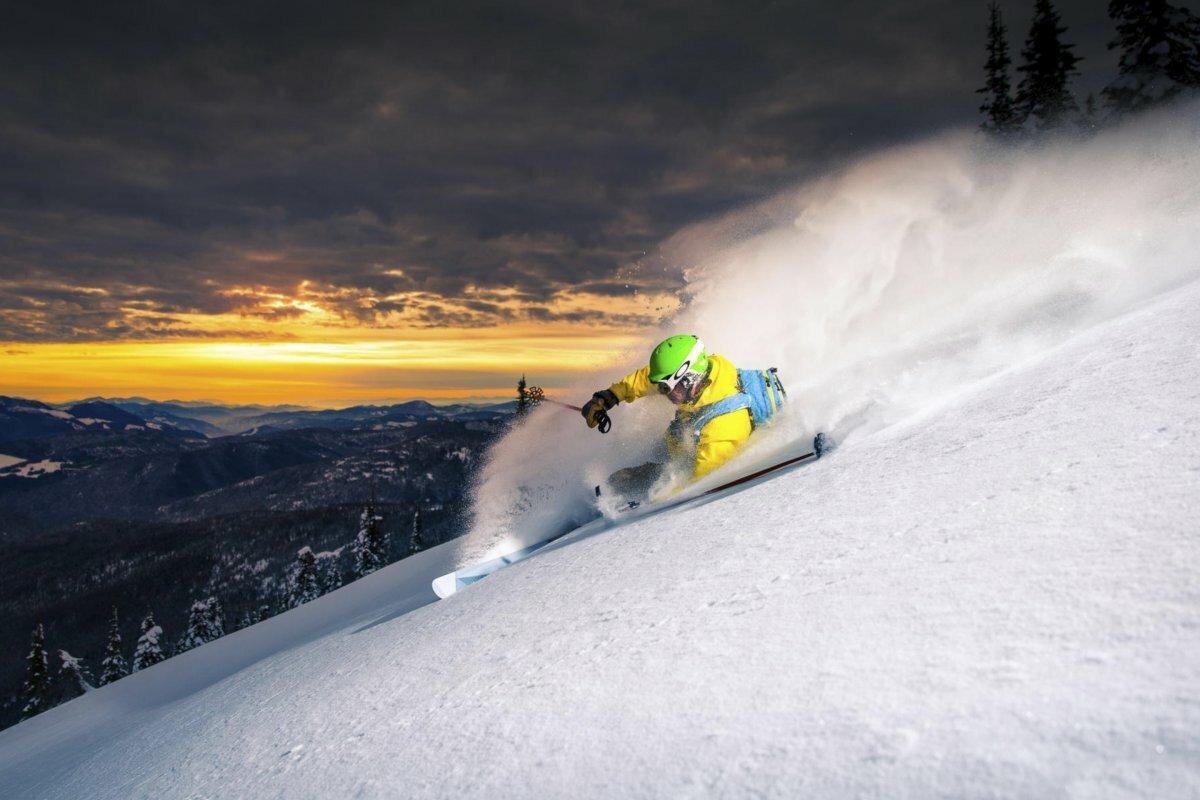 картинки горнолыжник на трассе лучше всего для