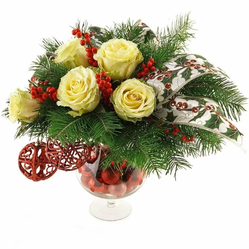 Картинка букет новогодний