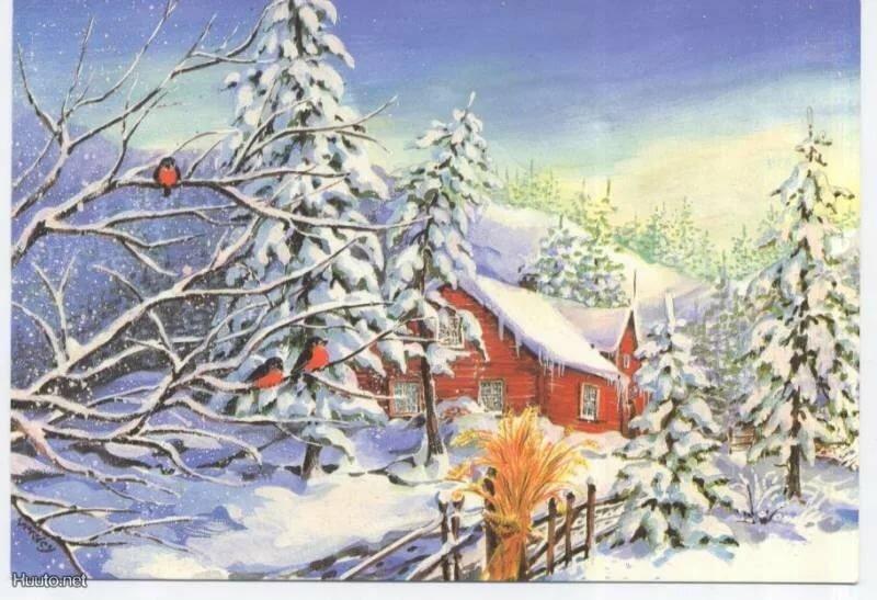 Картинки открытки на зиму