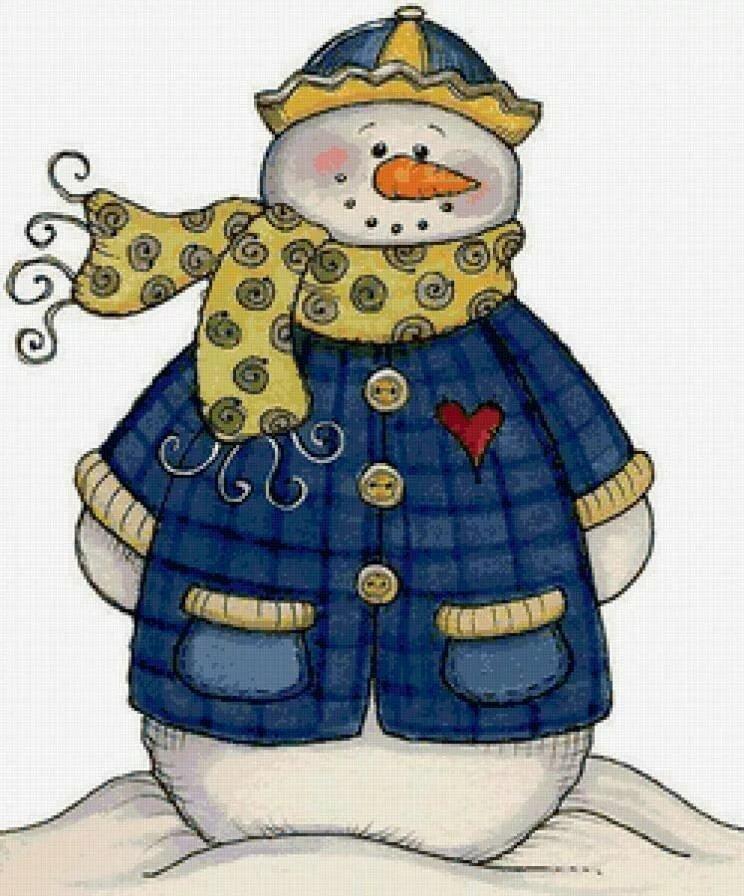 сложные, скрап картинка снеговик твой