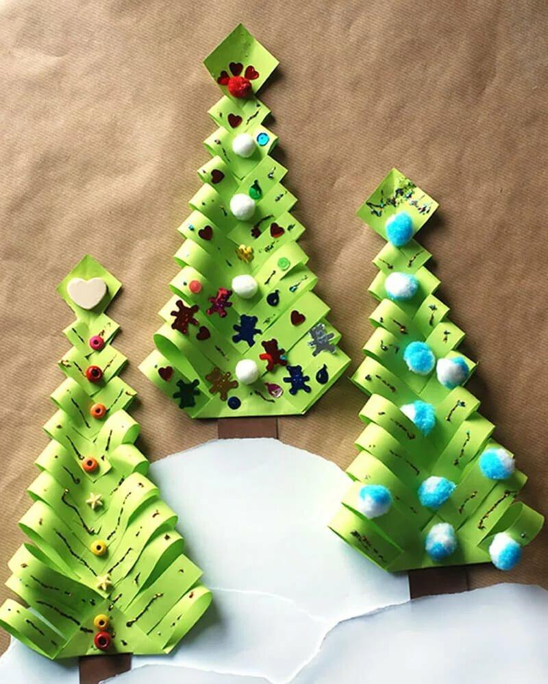 Картинки новогодние поделки с картона