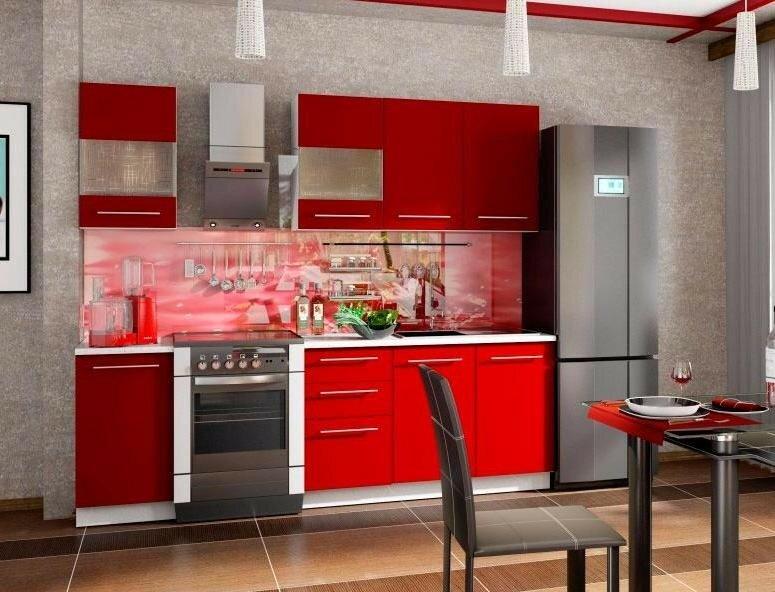 Кухня красно-серая картинки