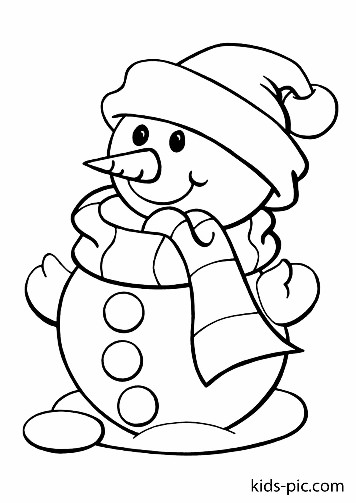 Картинки снеговиков на новый год для срисовки