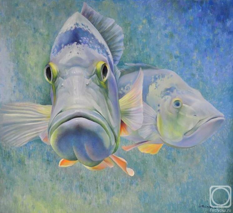среднем картина рыбы маслом неизвестно