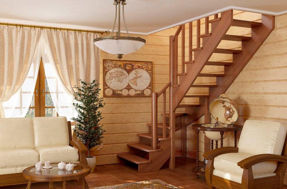 Деревянные лестницы в частном доме проекты фото