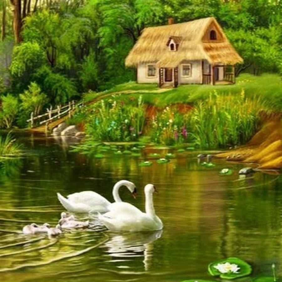 или анимационные картинки природа деревня которой можно почувствовать
