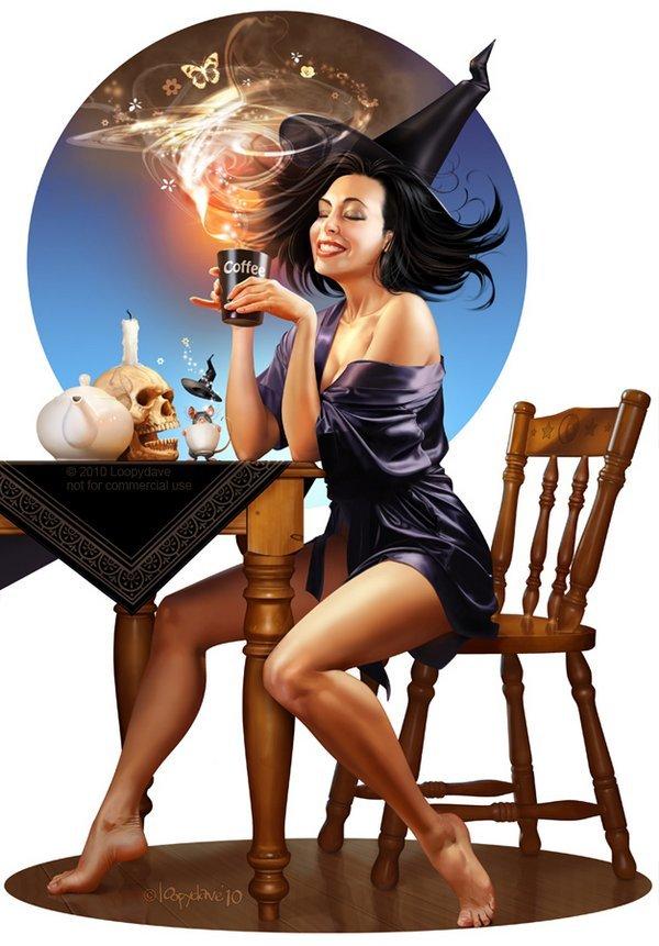 Празднику, картинка ведьмы прикольная
