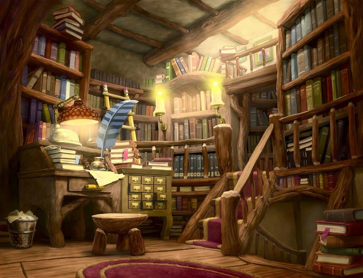 картинки волшебных библиотек вашему вниманию