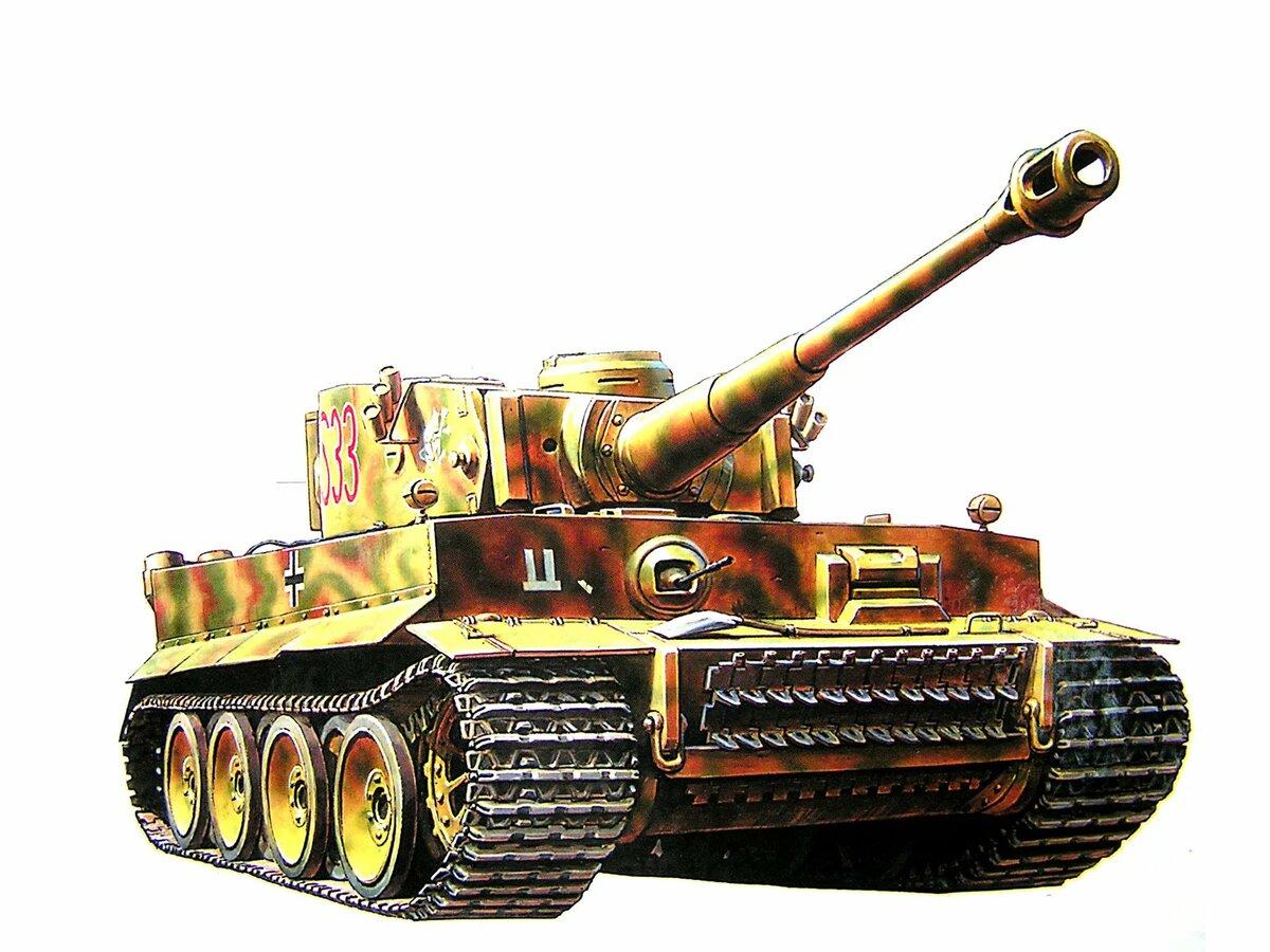 рисунки танк тигр