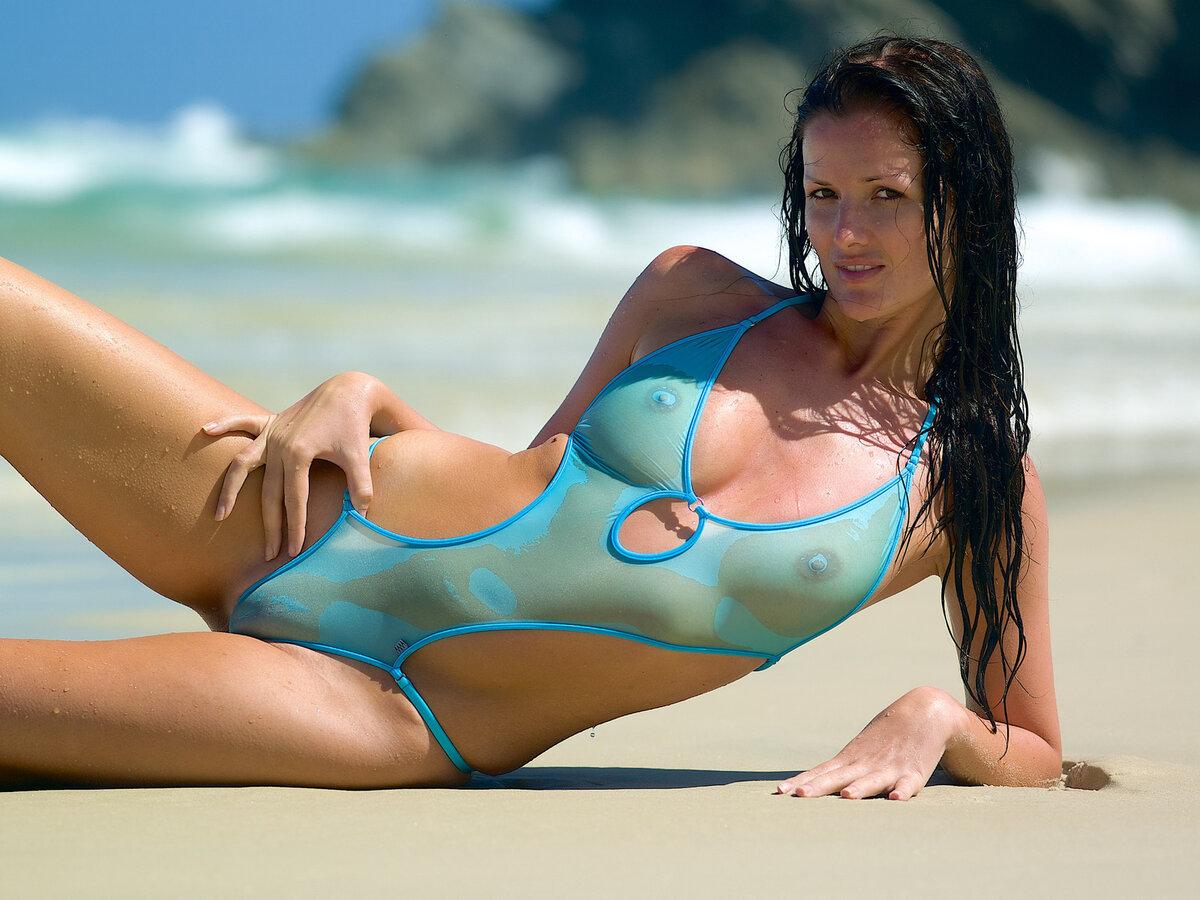 Sheer bikinis and see through swimwear