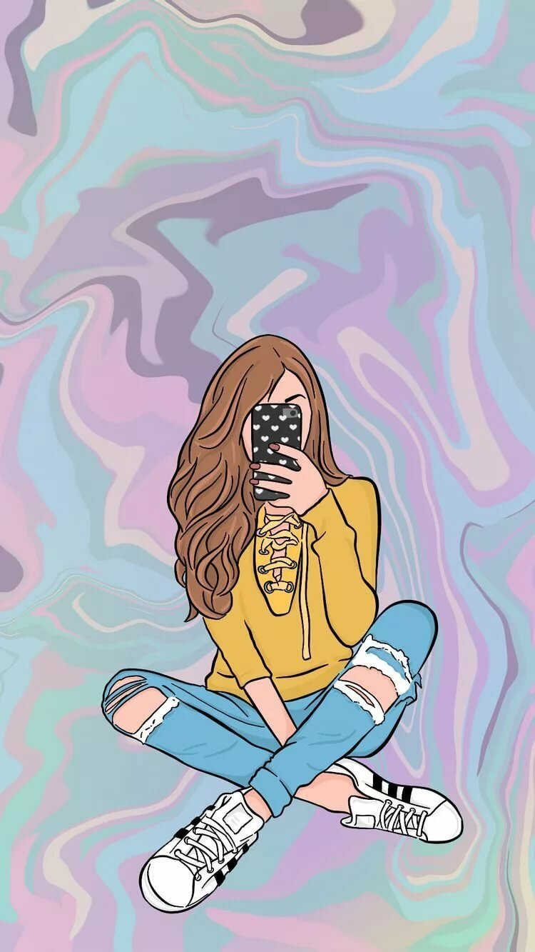 Картинки красивой девочки с телефоном