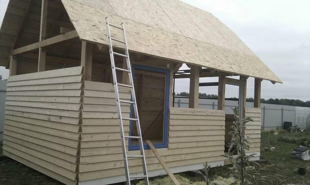 Строим дачный домик своими руками фото