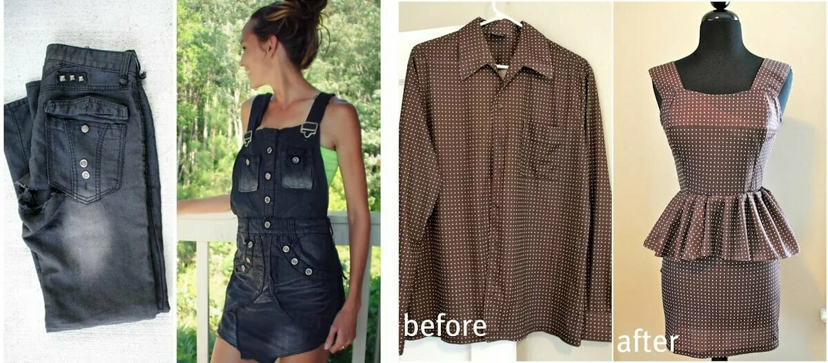 Перешиваем старую одежду в новую фото