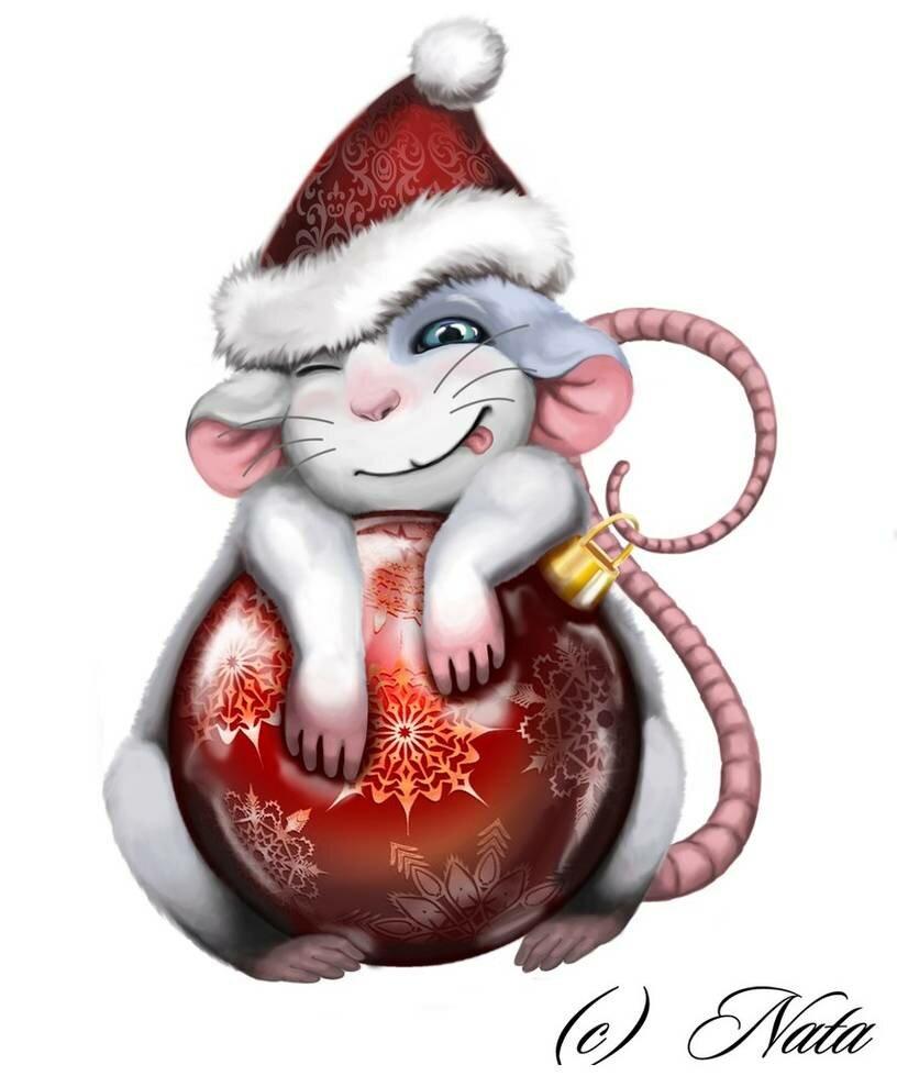 Картинки крысы смешные мультяшные новогодние