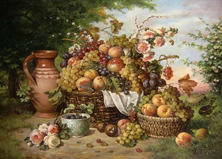 Картинки для декупажа фрукты в корзине