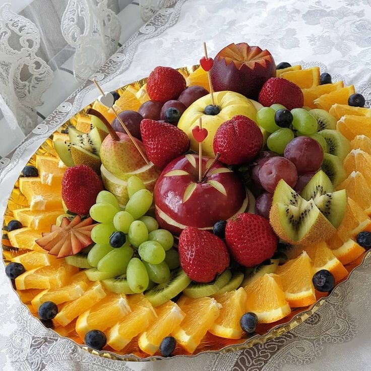 чтоб фрукты целиком положить красиво фото этого