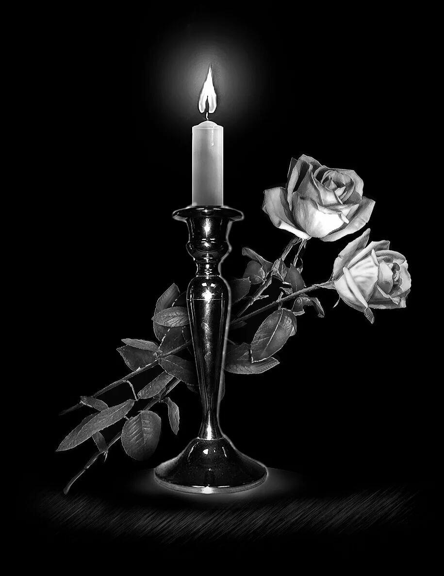 статус уже картинки с траурными свечами половых