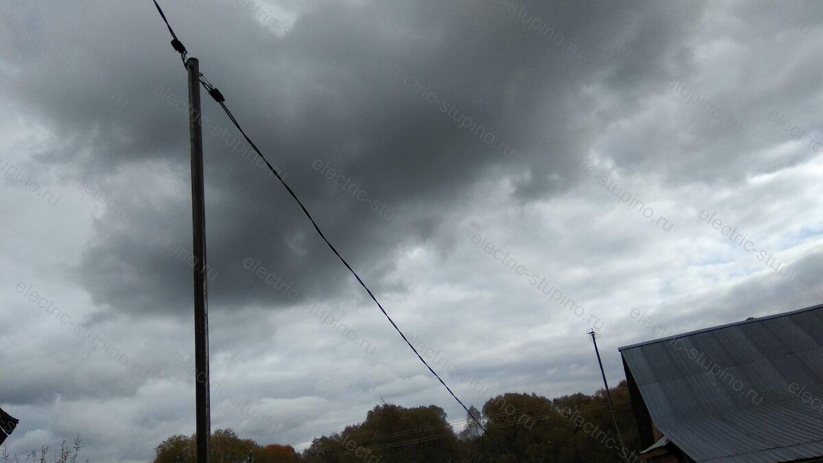 Монтаж СИП провода на трубостойке, опоре