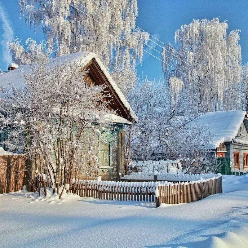 моя русские зимние пейзажи фото других известных