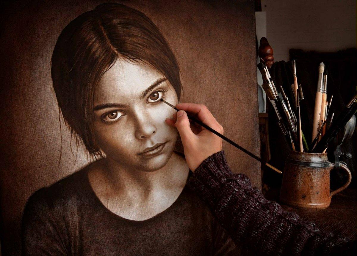 находится буквально художники для рисования портретов с фото отсутствие блеска делают
