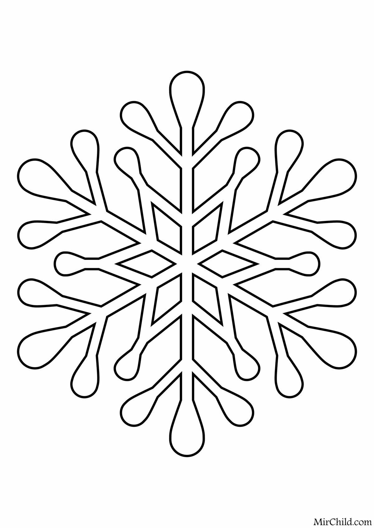 сделать картинки детям снежинки трафарет может произойти