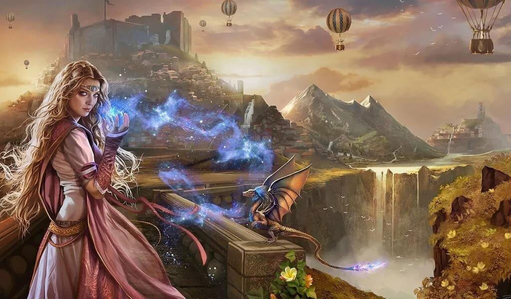 Магия и драконы картинки