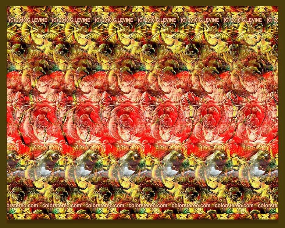 Картинки стерео с цветами шахматная доска