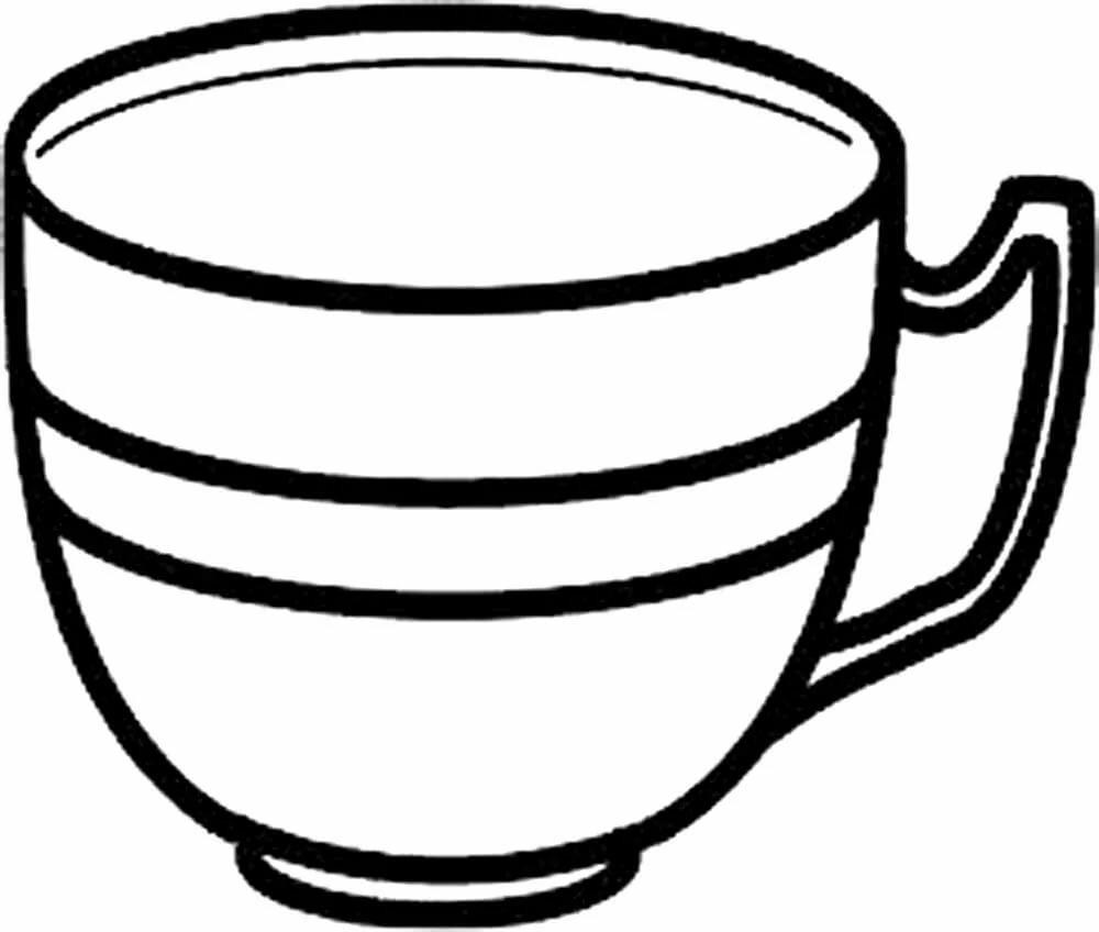дети чашка чая раскраска теплый жакет