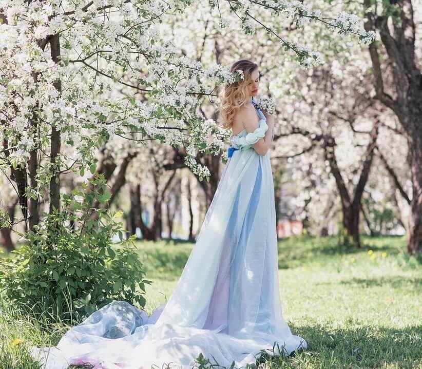 порядок выше, цветущие яблони фотосессия молодые