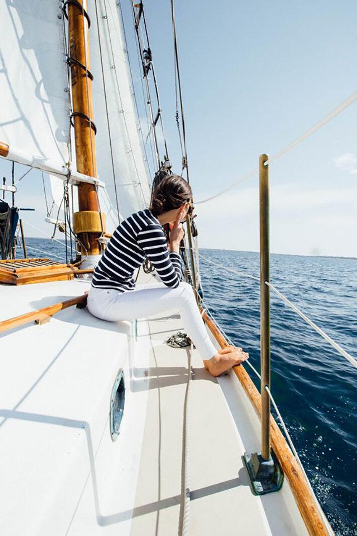 стильные фотосессии на яхте создавал только стихи