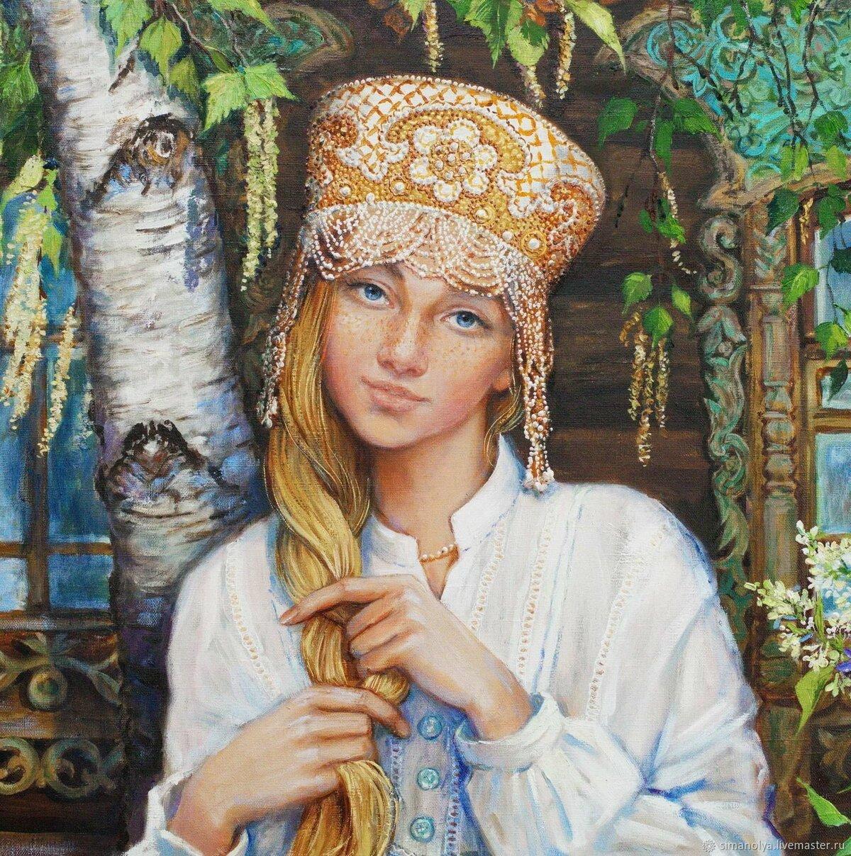 Русские красавицы картинки рисованные