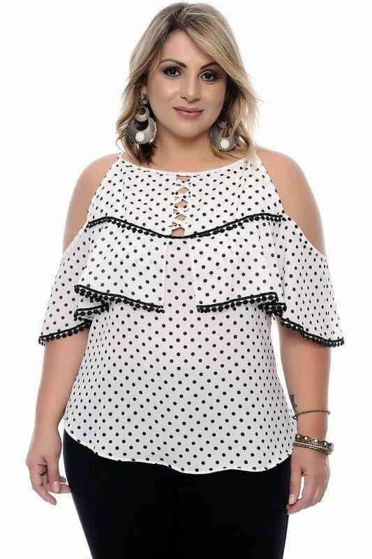 Модные блузки для полных картинки