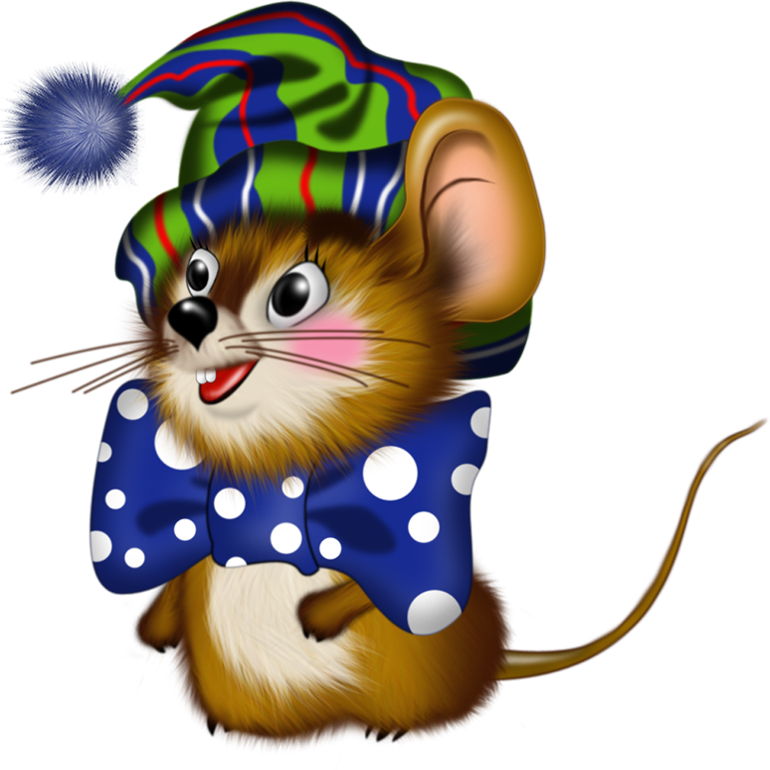 Картинки про мышку новогодние