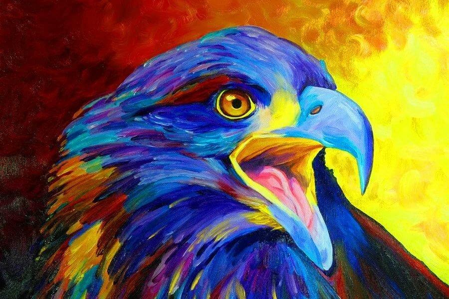 Рисунки орлов цветные