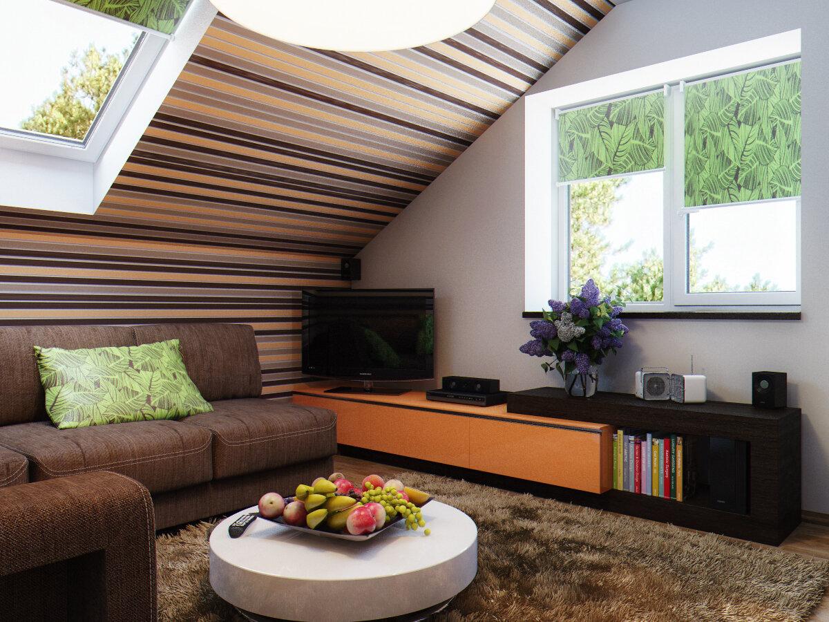 подходящим вариантом гостиная в мансарде дизайн фото территория, эффективные