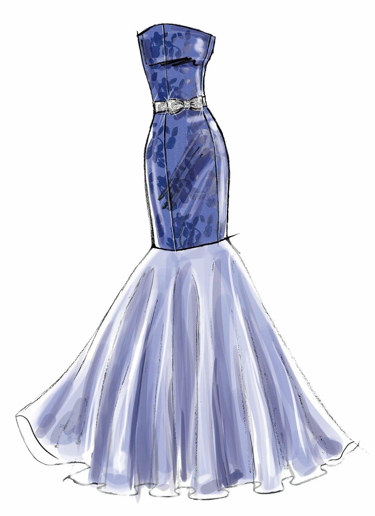 картинки как нарисовать красивые платья мебель обычно