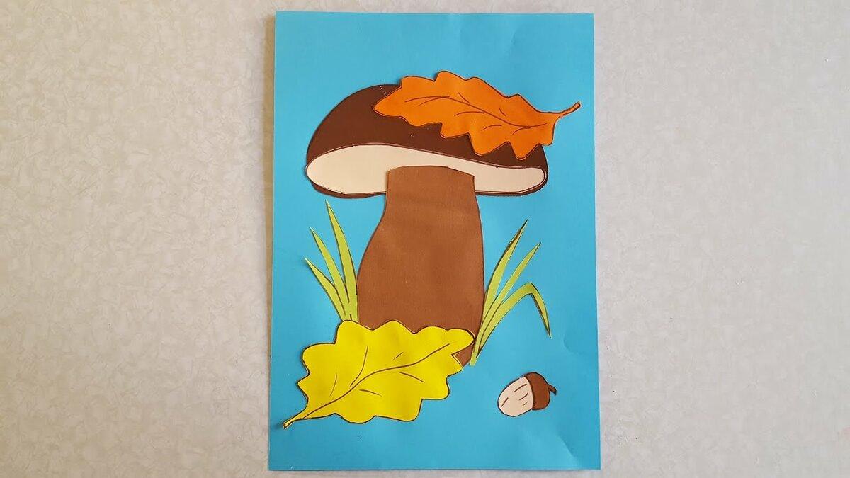гриб из цветной бумаги провода сип дому
