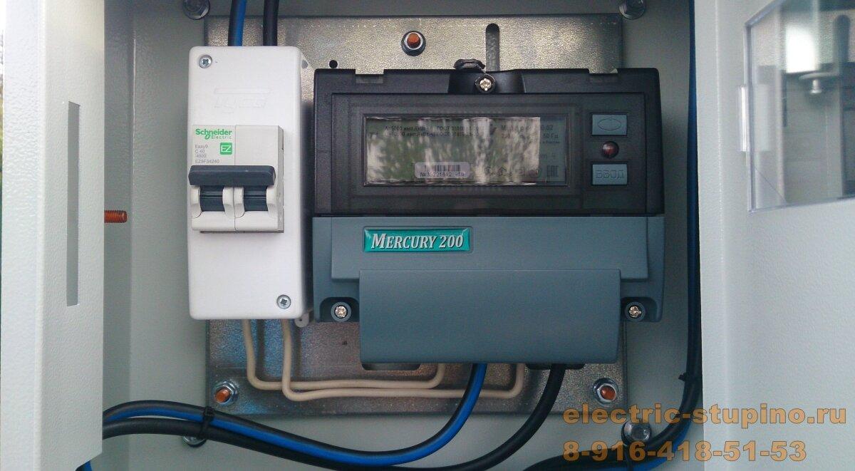 Вынос счетчика на столб в СНТ сборка электрощита