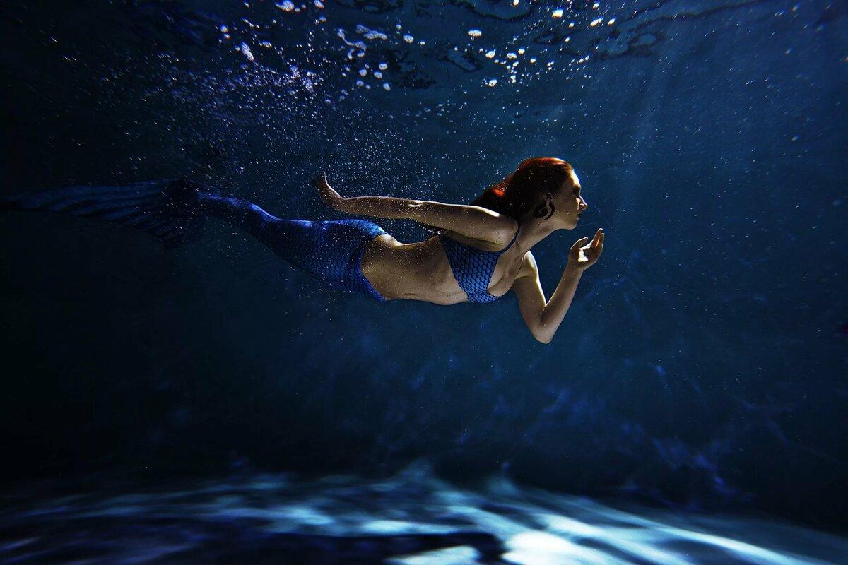 фотосъемка под водой в бассейне достаем холодильника
