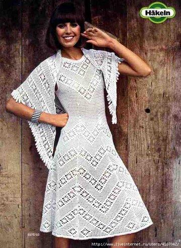 просто платье филейка вязание страна мам вязание крючко Card