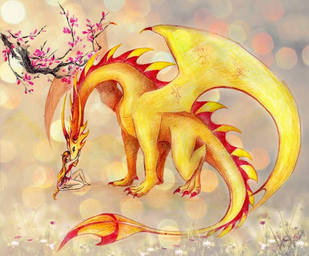 Детские красивые картинки с драконами