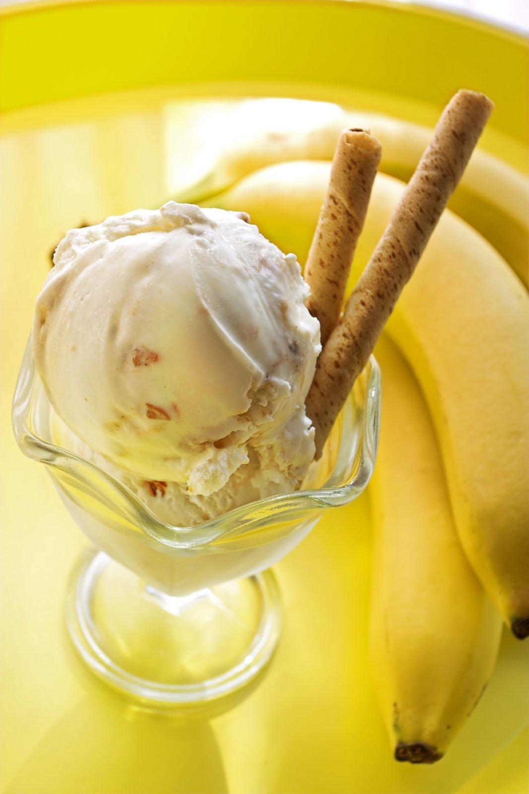 проявление картинки бананового мороженого стандартного испанского общепита