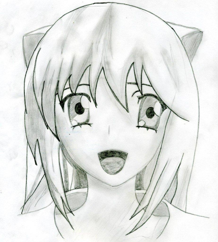 Срисовка прикольных картинок аниме, своими руками
